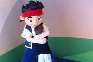 This hug melted his heart and made his vacation.  He loves his Jake's!
