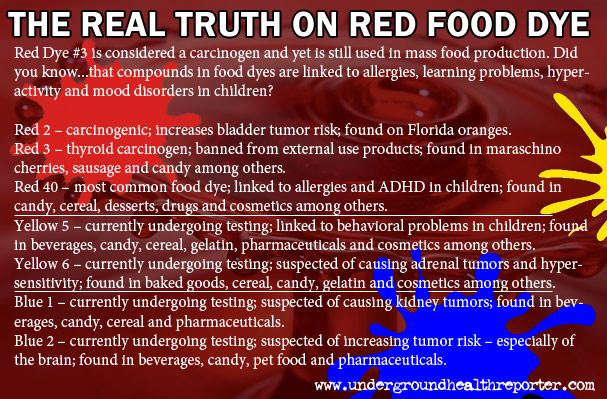 List Of Foods With Red Dye